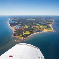 Gorgeous view of Prince Edward Island from an Airplane.