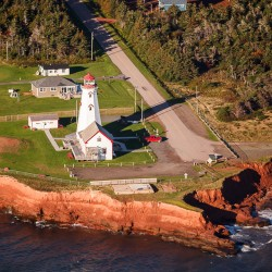 Historic lighthouse in East Point Prince Edward Island